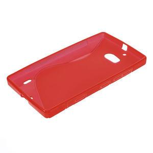 Gélové S-line puzdro na Nokia Lumia 930- červené - 3