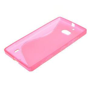 Gélové S-line puzdro na Nokia Lumia 930- ružové - 3