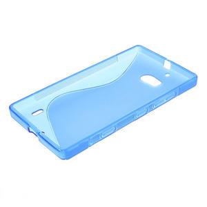 Gélové S-line puzdro na Nokia Lumia 930- modré - 3