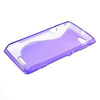 Gélové S-line puzdro na Sony Xperia L C2105- fialové - 3/5