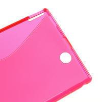 Gélové S-line puzdro pre Sony Xperia Z ultra- ružové - 3/5