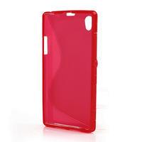 Gelové S-line pouzdro na Sony Xperia Z1 C6903 L39- červené - 3/5