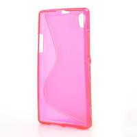 Gelové S-line pouzdro na Sony Xperia Z1 C6903 L39- růžové - 3/5