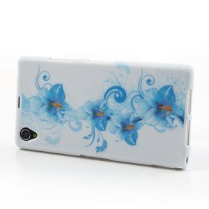 Gélové puzdro pre Sony Xperia Z1 C6903 L39- modrá lilie - 3