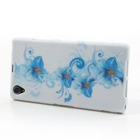 Gélové puzdro pre Sony Xperia Z1 C6903 L39- modrá lilie - 3/7