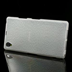 Kartáčované puzdro pre Sony Xperia Z1 C6903 L39- biele - 3