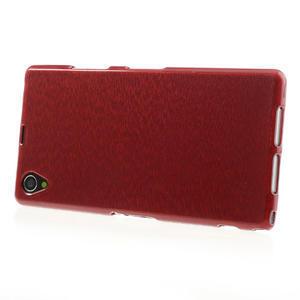 Kartáčované pouzdro na Sony Xperia Z1 C6903 L39- červené - 3