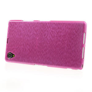 Kartáčované pouzdro na Sony Xperia Z1 C6903 L39- růžové - 3