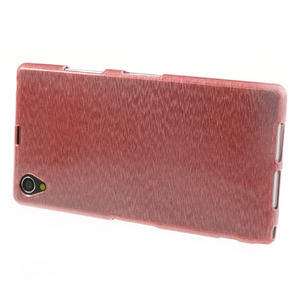 Kartáčované puzdro pre Sony Xperia Z1 C6903 L39- svetleružové - 3