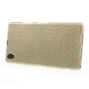 Kartáčované puzdro pre Sony Xperia Z1 C6903 L39- zlaté - 3