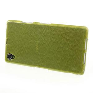 Kartáčované pouzdro na Sony Xperia Z1 C6903 L39- zelené - 3