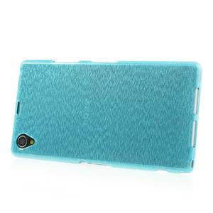 Kartáčované puzdro pre Sony Xperia Z1 C6903 L39- modré - 3