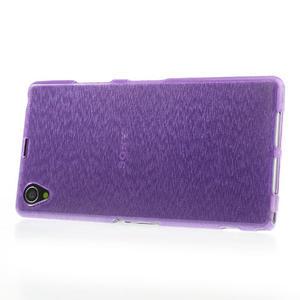 Kartáčované puzdro pre Sony Xperia Z1 C6903 L39- fialové - 3