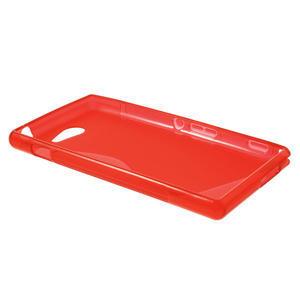 Gélové S-line puzdro na Sony Xperia M2 D2302- červené - 3