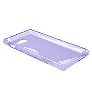 Gélové S-line puzdro pre Sony Xperia M2 D2302- fialové - 3
