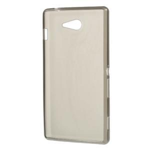 Gélové tenké puzdro pre Sony Xperia M2 D2302 - sivé - 3