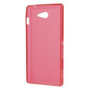 Gélové tenké puzdro pre Sony Xperia M2 D2302 - červené - 3