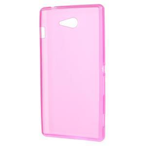Gélové tenké puzdro pre Sony Xperia M2 D2302 - ružové - 3