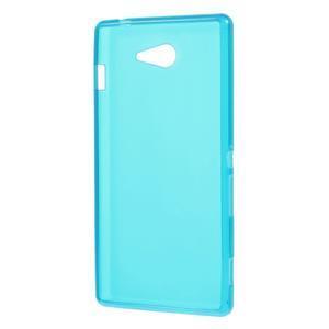 Gélové tenké puzdro na Sony Xperia M2 D2302 - svetlo modré - 3