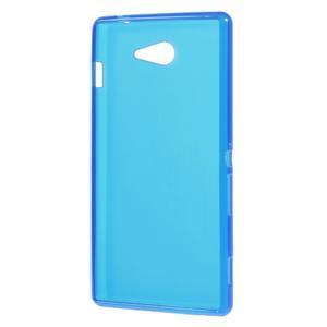 Gélové tenké puzdro na Sony Xperia M2 D2302 - modré - 3