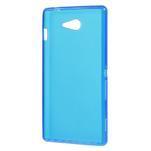 Gélové tenké puzdro na Sony Xperia M2 D2302 - modré - 3/5