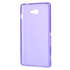 Gélové tenké puzdro na Sony Xperia M2 D2302 - fialové - 3
