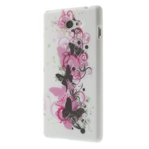 Gélové puzdro na Sony Xperia M2 D2302 - motýlí květ - 3