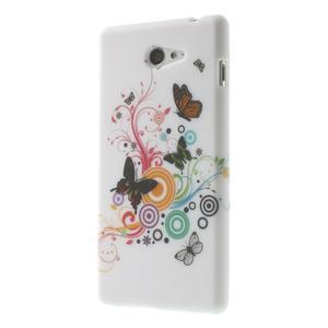 Gélové puzdro pre Sony Xperia M2 D2302 - farební motýľe - 3