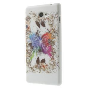 Gélové puzdro na Sony Xperia M2 D2302 - motýl - 3