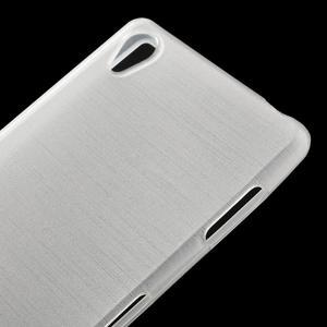 Gelové kartáčové pouzdro na Sony Xperia Z3 D6603 - bílé - 3