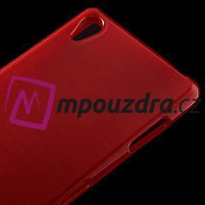 Gelové kartáčové pouzdro na Sony Xperia Z3 D6603 - červené - 3