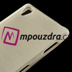 Gelové kartáčové pouzdro na Sony Xperia Z3 D6603 - zlatavé - 3