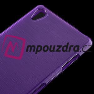 Gélové kartáčové puzdro pre Sony Xperia Z3 D6603 - fialové - 3