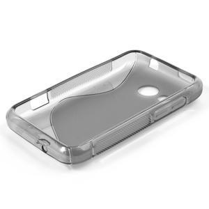 Gélové S-line puzdro pre HTC Desire 200- šedé - 3