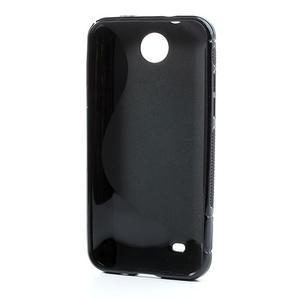 Gélové S-line puzdro pre HTC Desire 300 Zara mini- čierné - 3