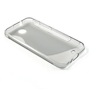 Gélové S-line puzdro pre HTC Desire 300 Zara mini- šedé - 3