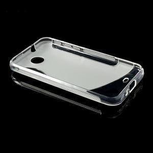 Gélové S-line puzdro pre HTC Desire 300 Zara mini- transparentný - 3