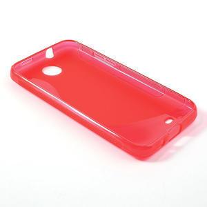 Gélové S-line puzdro pre HTC Desire 300 Zara mini- červené - 3