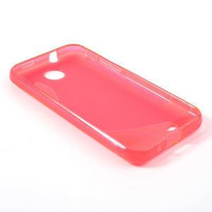 Gélové S-line puzdro pre HTC Desire 300 Zara mini- ružové - 3