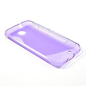 Gélové S-line puzdro pre HTC Desire 300 Zara mini- fialové - 3