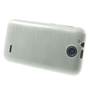 Gélové kartáčované puzdro na HTC Desire 310- biele - 3