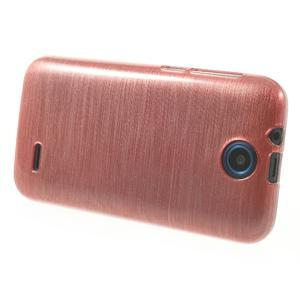 Gélové kartáčované puzdro pre HTC Desire 310- svetloružové - 3