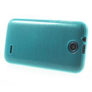 Gélové kartáčované puzdro na HTC Desire 310- modré - 3