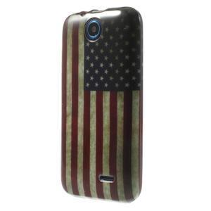 Gélové puzdro na HTC Desire 310- USA vlajka - 3