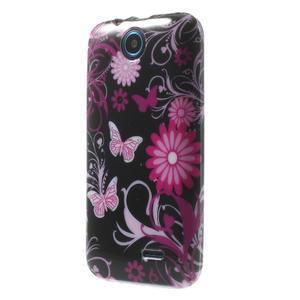 Gélové puzdro na HTC Desire 310- motýlci - 3