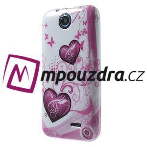 Gélové puzdro na HTC Desire 310- dvě srdce - 3