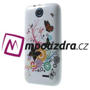 Gélové puzdro na HTC Desire 310- farebné motýlci - 3