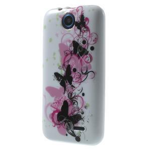 Gélové puzdro pre HTC Desire 310- motýľ kvet - 3