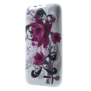 Gélové puzdro na HTC Desire 310- fialový květ - 3