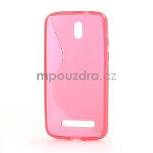 Gélové puzdro pre HTC Desire 500- růžové - 3
